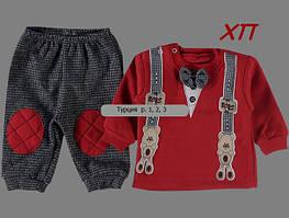 Нарядный костюм для мальчика с бабочкой и подтяжками Турция р. 3 МАЛОМЕРИТ!!!