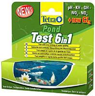 Tetra Pond Test Set 6 in1 набор тестов для контроля качества воды, 25 шт