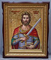 Киот для иконы Святого Александра Невского фигурный.