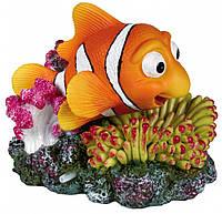 Декорация Trixie Clownfish and Coral with Air Outlet для аквариума, полиэфирная смола, 12 см