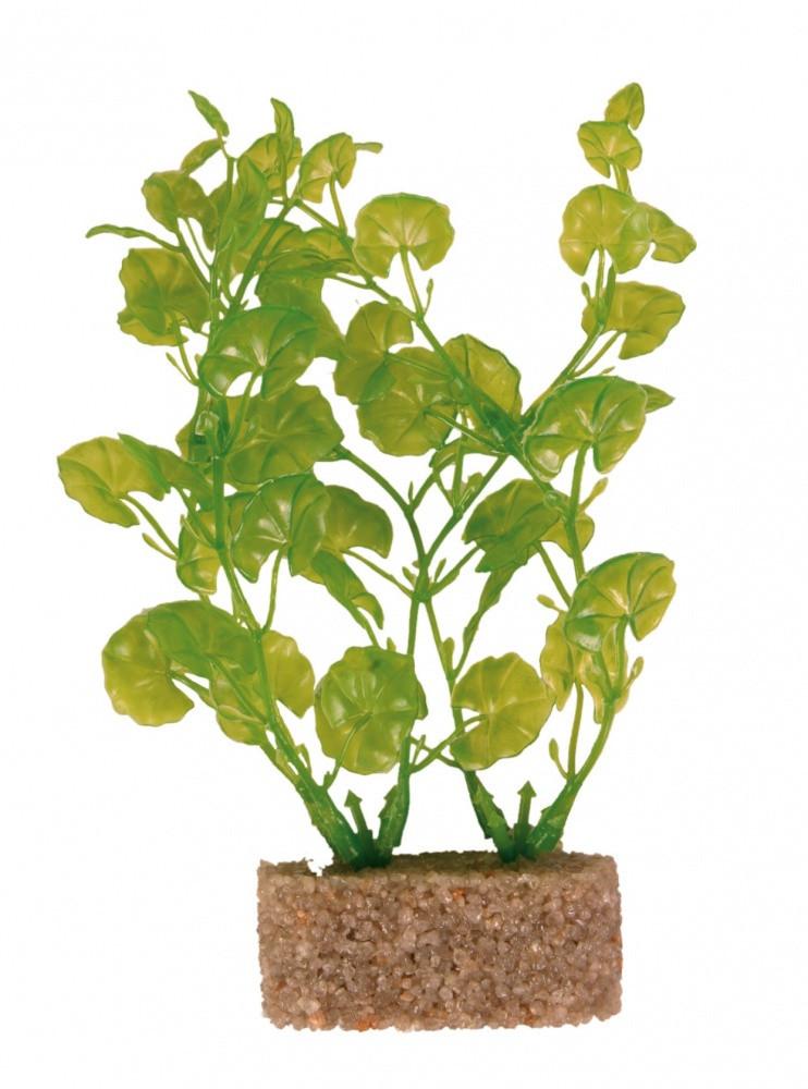 Декорация Trixie Plastic Plants with Sand Base для аквариума, растения, пластик, 12 см