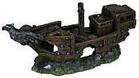 Декорация Trixie Shipwreck для аквариума, затонувший корабль, полиэфирная смола, 32 см