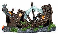 Декорация Trixie Shipwreck для аквариума, затонувший корабль, полиэфирная смола, 23 см