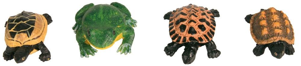 Декорация Trixie Frogs and Tortoises для аквариума, полиэфирная смола, 12 шт