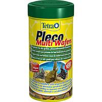 Корм Tetra Pleco Multi Wafers для крупных донных рыб в чипсах, 250 мл