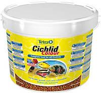 Корм Tetra Cichlid Colour для цихлид в гранулах, улучшение окраса, 10 л