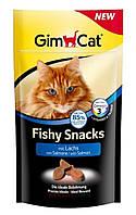 Лакомство Gimcat Fishy Snacks для кошек с рыбой, 35 г