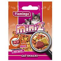 Лакомство Karlie-Flamingo Miniz Mini Hearts для кошек, вкус мяса, 50 г