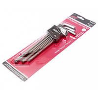 Набор шестигранных ключей удлиненных с шаровидными наконечниками 9 ед. JTC 3505