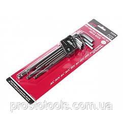 """Набор шестигранных ключей удлиненных с шаровидными наконечниками1/16-3/8"""" 9 ед. JTC 3506"""