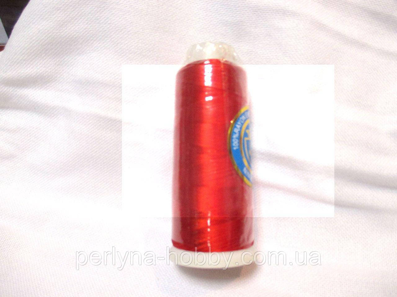 Нитки для машинної вишики 100% віскоза (100% rayon) 3000 ярдів, №148, яскраво-червоний