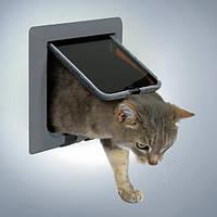 Дверь двухсторонняя Trixie Luxe для кошек с туннелем, 21х21 см