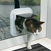 Дверь двухсторонняя Trixie Cat Flap для стеклянной двери, 27х27 см