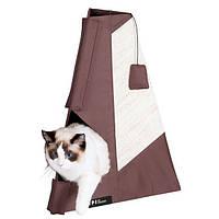 Когтеточка Karlie-Flamingo Tipi Scratching Board для кошек с домиком, 48х60 см