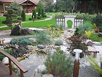 Натуральный камень в дизайне сада