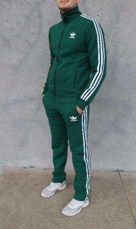 12667d89edf Мужской спортивный костюм Adidas зеленый спрмыми брюками (Адидас ...