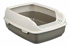 Туалет Trixie Delio Litter Tray для кішок з рамкою, пластик, 35х20х48 см