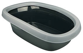 Туалет Trixie Carlo Litter Tray для кошек с рамкой, пластик, 38х58х17 см