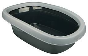 Туалет Trixie Carlo Litter Tray для кошек с рамкой, пластик, 31х43х14 см