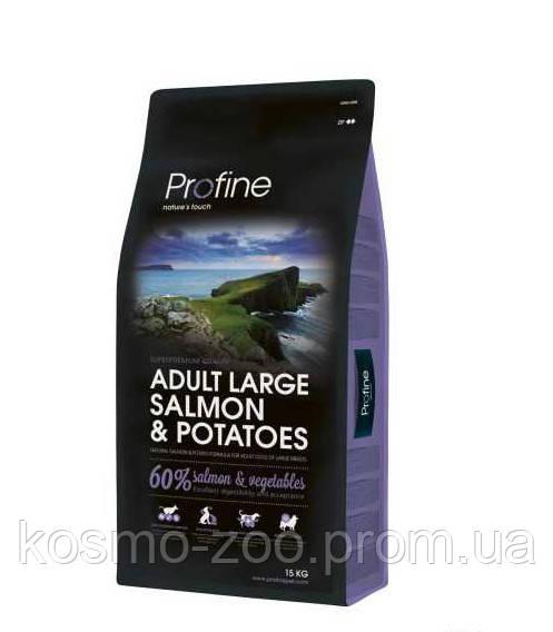 Сухой корм Профайн (Profine adult Large Breed salmon & potatoes) для крупных собак, лосось и картофель 15 кг
