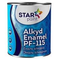 Эмаль STAR Paint алкидная ПФ-115 Темно-коричневый 2,8 кг