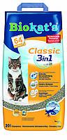 Наполнитель Gimpet Biokat's Classic 3in1 для кошек глиняный, 20 л