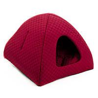 Домик для кота Бест красный ТМ Природа 46х46х37см