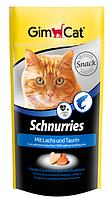 Витамины Gimcat Schnurries для кошек сердечки с лососем и таурином, 40 г