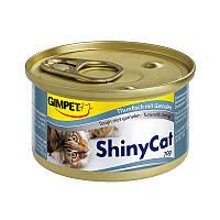 Консервы Gimpet ShinyCat Tuna & Shrimp для кошек с тунцом и креветками, 70 г