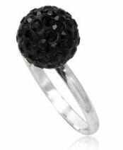 Серебряное кольцо с кристаллами Swarovski (TN490). Размер 17
