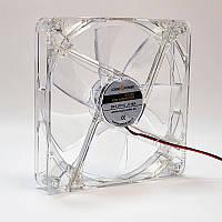 Вентилятор корпусних LogicPower F14С, 4pin (Molex харчування), світлодіодна підсвітка 4 кольори