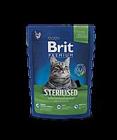 Brit Premium Sterilized корм для стерилизованных кошек, 800 г
