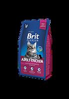 Сухой корм Brit Premium Adult Chicken для взрослых кошек с курицей, 8 кг