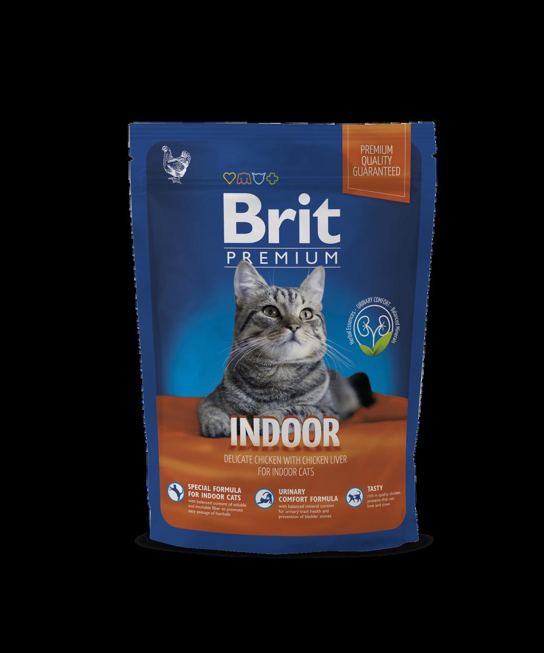 Brit Premium Cat Indoor корм для кошек, живущих в помещении, 800 г