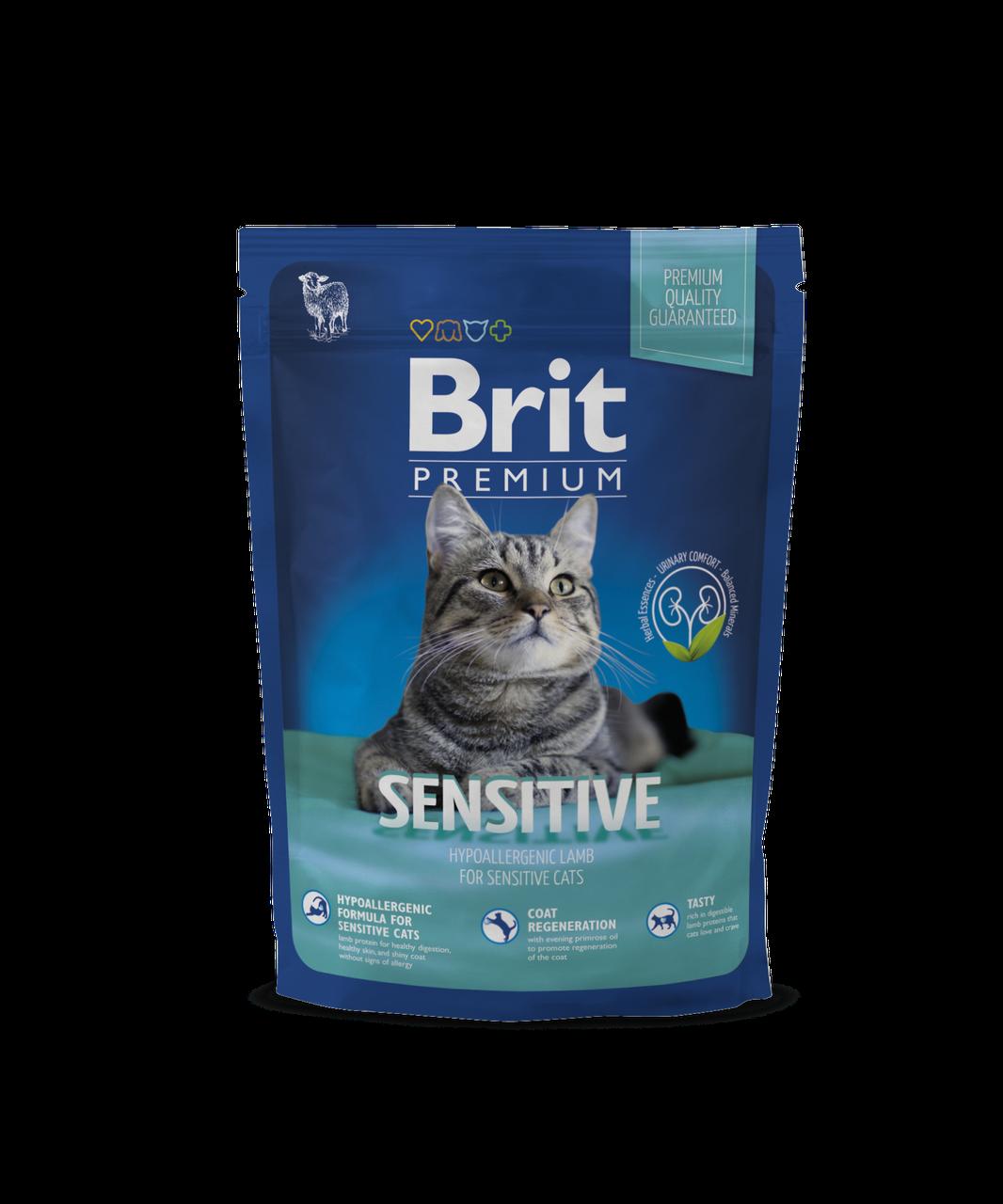 Brit Premium Sensitive корм для кошек с чувствительным пищеварением, 800 г
