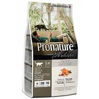 Сухой корм для взрослых котов Pronature Holistic Adult со вкусом индейки и клюквы 340 г