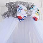 Комплект постельного белья Asik Совы цветные с серыми звёздами 8 предметов (8-258), фото 3