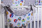 Комплект постельного белья Asik Совы цветные с серыми звёздами 8 предметов (8-258), фото 5
