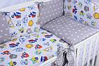 Комплект постельного белья Asik Совы цветные с серыми звёздами 8 предметов (8-258), фото 2