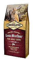 Carnilove Lamb & Wild Boar корм для стерилизованных кошек, ягненок и дикий кабан, 6 кг
