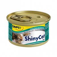 Консервы Gimpet ShinyCat Chicken & Shrimp для кошек с курицей и креветками, 70 г