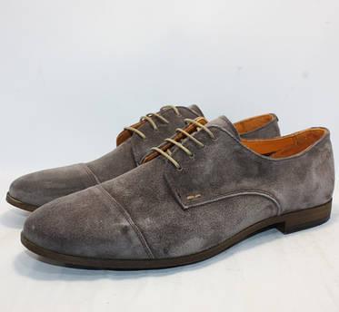 Туфли мужские серый замш Freefoot