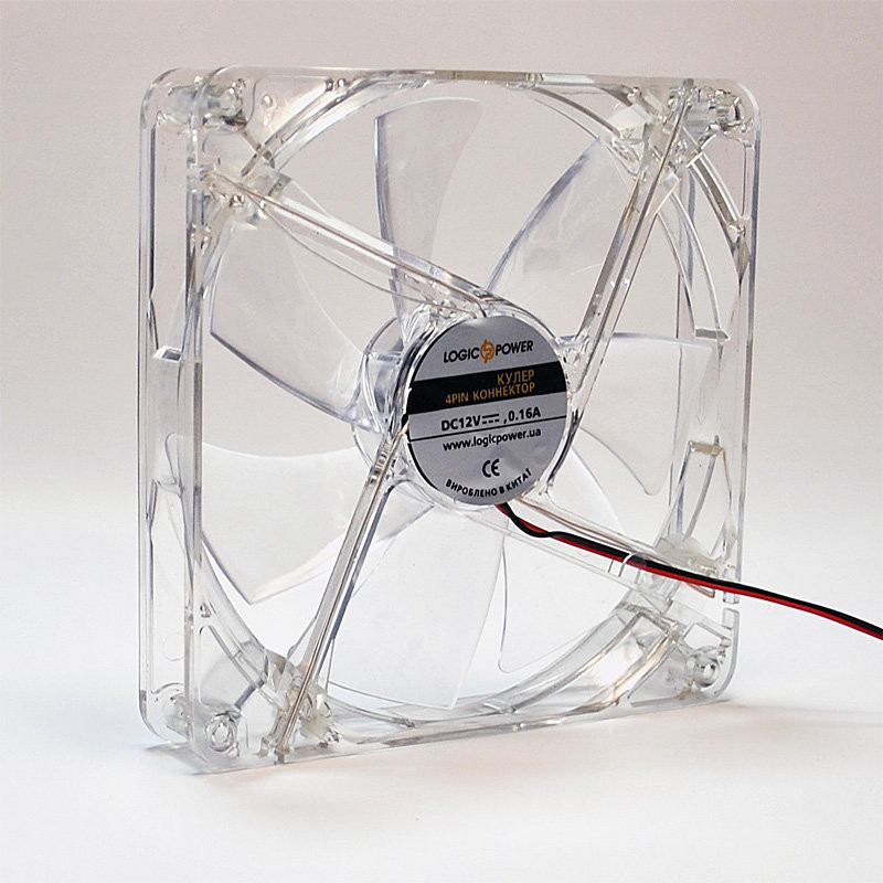 Вентилятор корпусной LogicPower F12C, 4pin (Molex питание), светодиодная подсветка 4 цвета