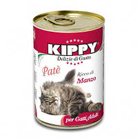 Паштет Kippy Cat для кошек с говядиной, 400 г