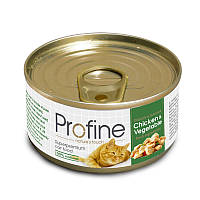 Консервы Profine Chicken & Vegetable для кошек, курица с овощами, 70 г