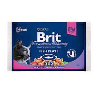 Консервы Brit Premium для кошек рыбная тарелка, 400 г