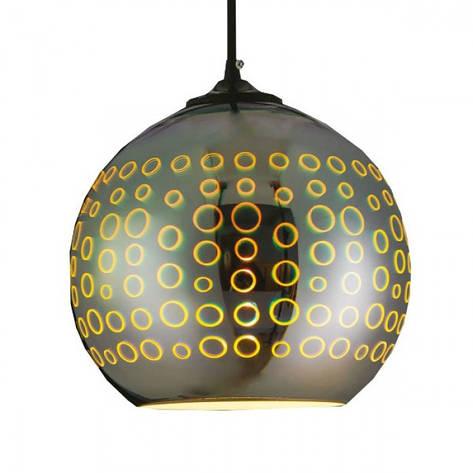Подвесной светильник с 3D-эффектом круглый RADIAN Horoz Electric, фото 2