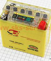 Аккумулятор 5Аh (гелевый, желтый) Active 120/60/130мм с ИНДИКАТОРОМ