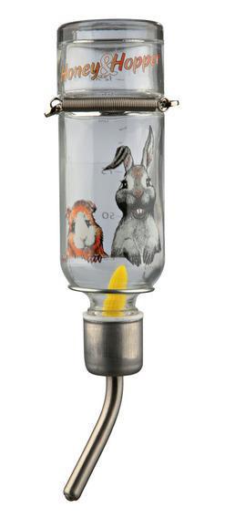 Поилка автоматическая Trixie Honey & Hopper для грызунов стеклянная, 500 мл