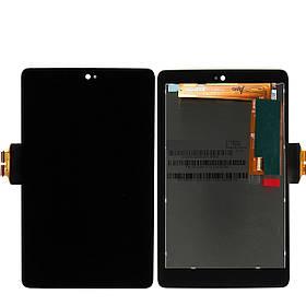 Дисплей (экран) для Asus ME370 Google Nexus 7 (2012) версия Wi-Fi с сенсором (тачскрином) черный Оригинал